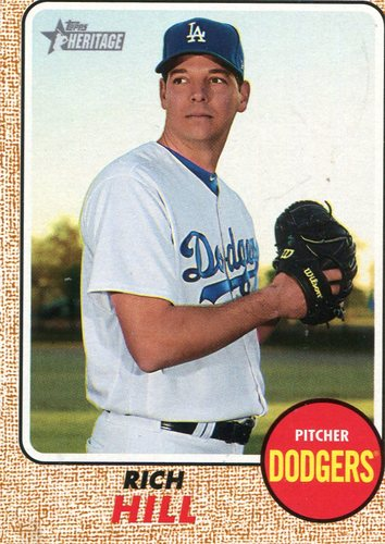 Photo of 2017 Topps Heritage #711 Rich Hill Short Print -- Dodgers post-season