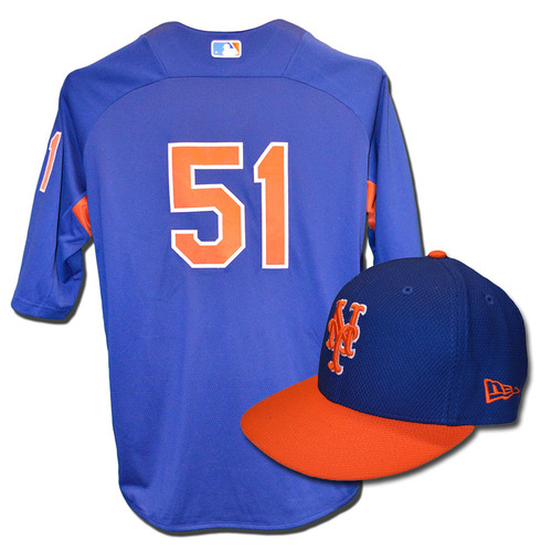 Photo of Paul Sewald #51 - Team Issued Blue Batting Practice Top and Hat Combination - 2017 Season
