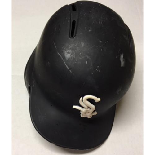 Photo of Omar Narvaez Team-Issued Black Matte Batting  Helmet