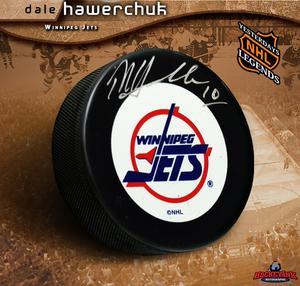 DALE HAWERCHUK Signed Winnipeg Jets Puck