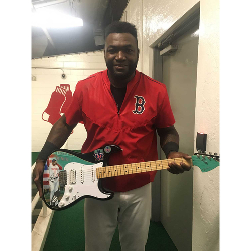 Photo of David Ortiz Autographed American Made Fender® Custom Guitar