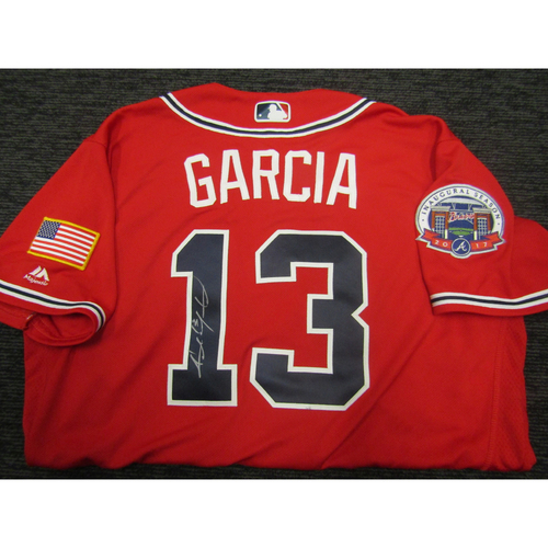 Photo of Braves Charity Auction - Adonis Garcia Team Issued & Autographed Braves Military Appreciation Jersey