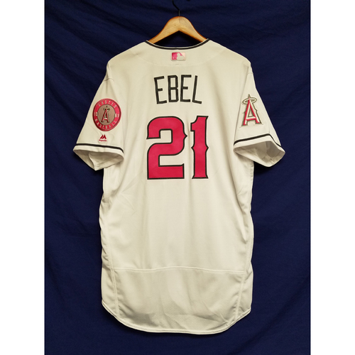 Photo of Dino Ebel Game-Used Home Mother's Day Jersey