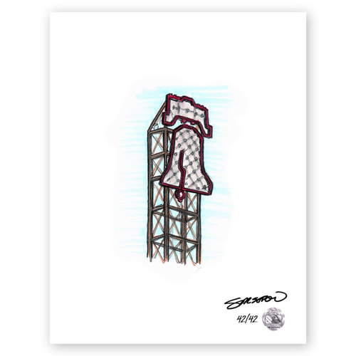 Photo of Citizens Bank Park Sketch - Limited Edition Print 42/42 by S. Preston