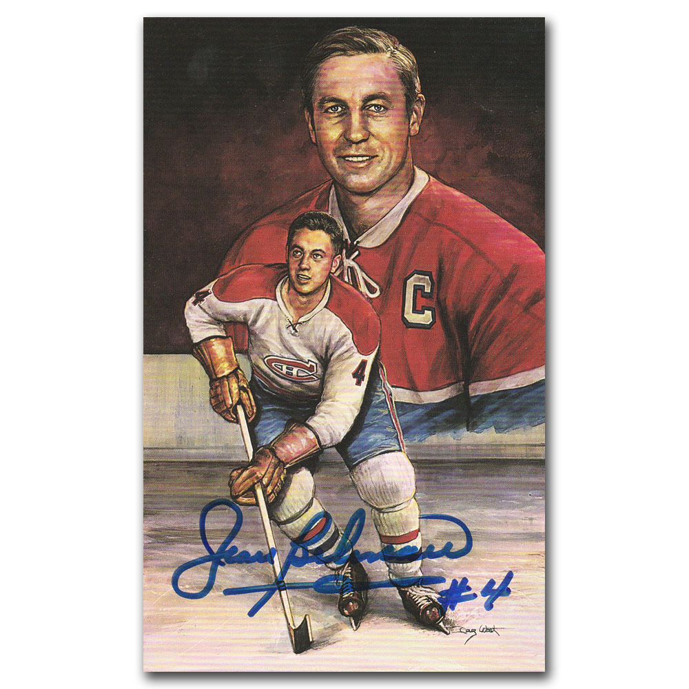 Jean Beliveau (deceased) Autographed Montreal Canadiens Limited-Edition Legends of Hockey Card