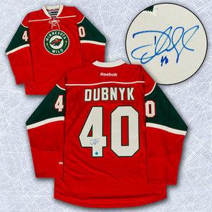 Devan Dubnyk Minnesota Wild Autographed Reebok Premier Hockey Jersey