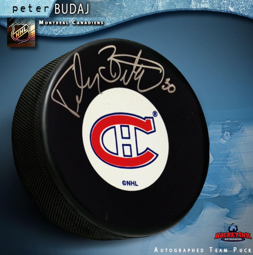 PETER BUDAJ Signed Montreal Canadiens Puck