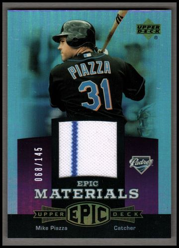 Photo of 2006 Upper Deck Epic Materials Light Purple #MP1 Mike Piazza Jsy/145