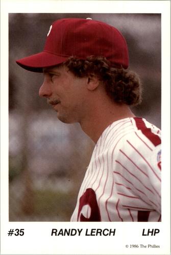Photo of 1986 Phillies Tastykake #35 Randy Lerch