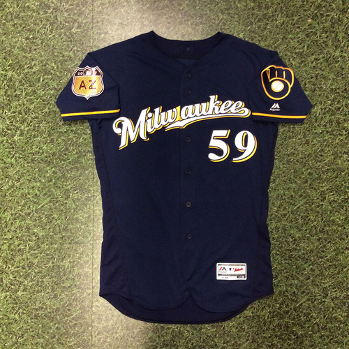 Photo of Carlos Torres 2017 Game-Used Spring Training Jersey