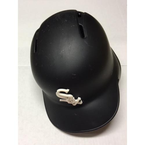 Photo of Adam Engel Team-Issued Black Matte Batting Helmet