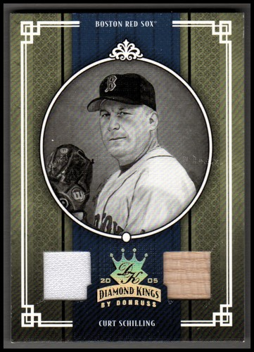 Photo of 2005 Diamond Kings Materials Gold B/W #39 Curt Schilling Bat-Jsy/50