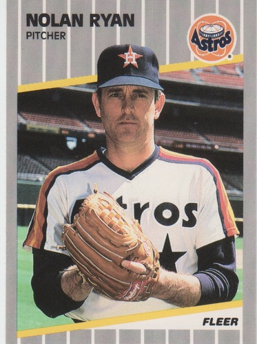 Photo of 1989 Fleer #368 Nolan Ryan/Card number listed/as 367 on Astros CL