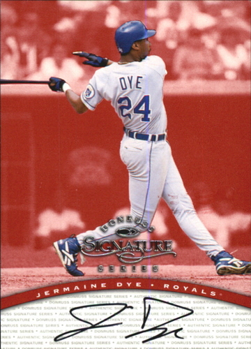 Photo of 1997 Donruss Signature Autographs #29 Jermaine Dye/3900