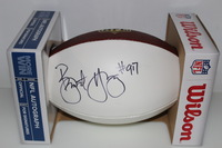 NFL - 49ERS BRYANT YOUNG SIGNED PANEL BALL