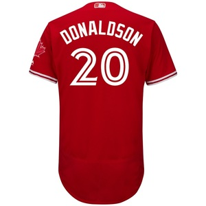 Authentic Collection Josh Donaldson Flex Base Alternate Red Jersey by Majestic