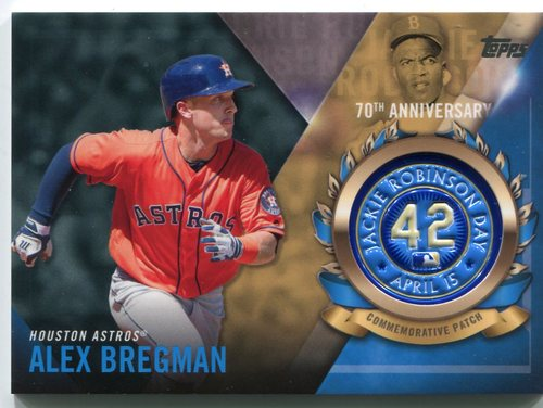 Photo of 2017 Topps Jackie Robinson Logo Patches #JRPCABR Alex Bregman