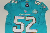 NFL - INTERNATIONAL SERIES - DOLPHINS KELVIN SHEPPARD GAME WORN DOLPHINS JERSEY (OCTOBER 4 2015)