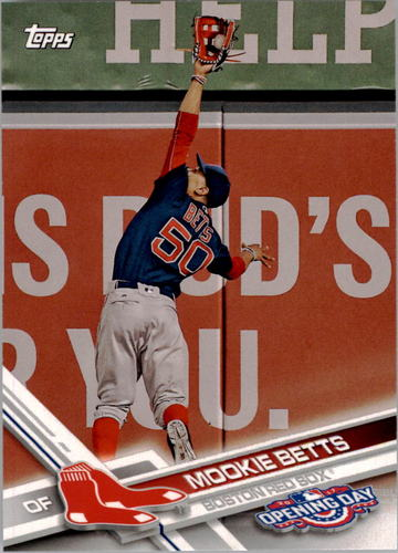 Photo of 2017 Topps Opening Day #113A Mookie Betts