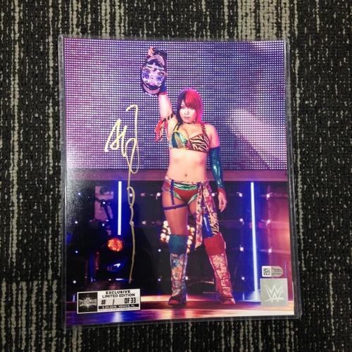 Photo of Asuka SIGNED 8 x 10 Limited Edition WrestleMania 33 Photo (#1 of 33)