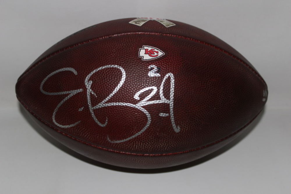 STS - CHIEFS ERIC BERRY GAME USED AND SIGNED FOOTBALL W/ STS RIBBON LOGO (NOVEMBER 6 2016)