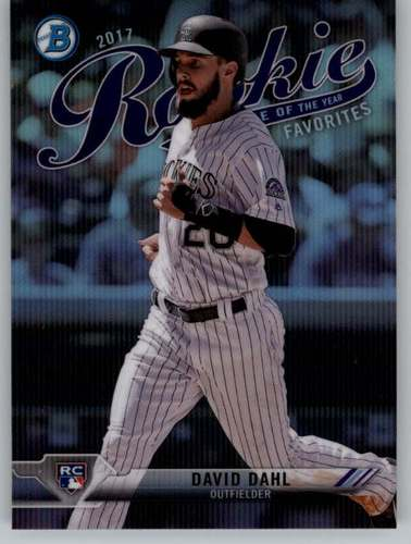 Photo of 2017 Bowman Chrome Rookie of the Year Favorites #ROYF8 David Dahl