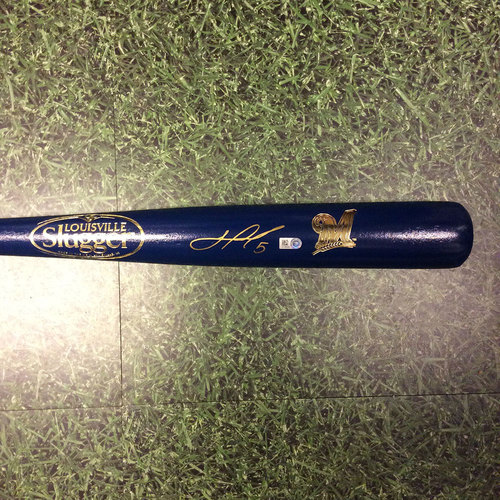 Photo of Jonathan Villar Autographed Louisville Slugger Bat