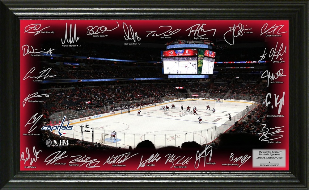 Serial #1 Washington Capitals Signature Rink