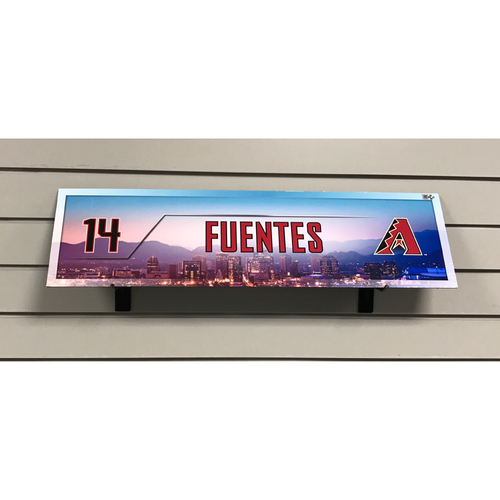 Photo of Reymond Fuentes Game-Used 2017 Season Nameplate