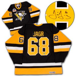 Jaromir Jagr Pittsburgh Penguins Autographed Retro CCM 1992 Stanley Cup Jersey