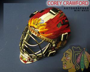 COREY CRAWFORD Signed Chicago Blackhawks Mini Helmet