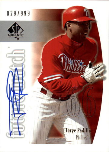 Photo of 2002 SP Authentic #159 Jorge Padilla AU RC