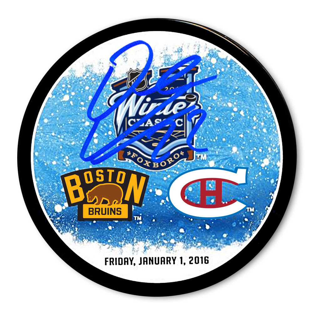 Dale Weise 2016 Winter Classic Dueling Autographed Puck Montreal Canadiens