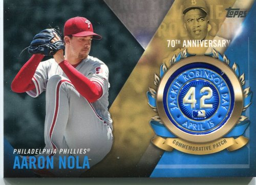 Photo of 2017 Topps Jackie Robinson Logo Patches #JRPCAN Aaron Nola