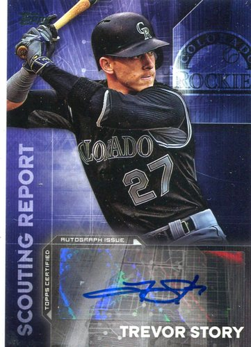 Photo of 2016 Topps Scouting Report Autographs #SRATS Trevor Story UPD