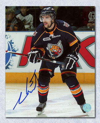 Aaron Ekblad Barrie Colts Autographed Blue Jersey 8x10 Photo