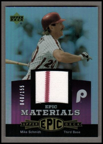 Photo of 2006 Upper Deck Epic Materials Light Purple #MS3 Mike Schmidt Jsy/155