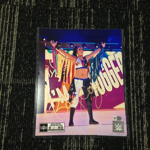 Photo of Bayley SIGNED 8 x 10 Limited Edition WrestleMania 33 Photo (#1 of 33)