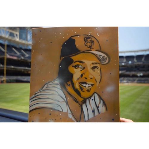 Photo of Tony Gwynn Painting by Matt Szczur