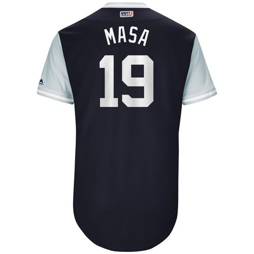 "Photo of Masahiro ""Masa"" Tanaka New York Yankees Game-Used Players Weekend Jersey"