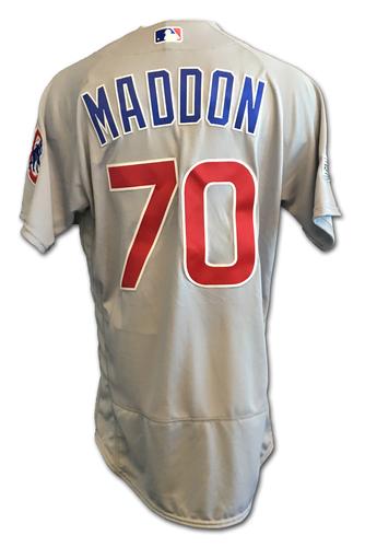 Joe Maddon Team-Issued Jersey -- 2017 Postseason