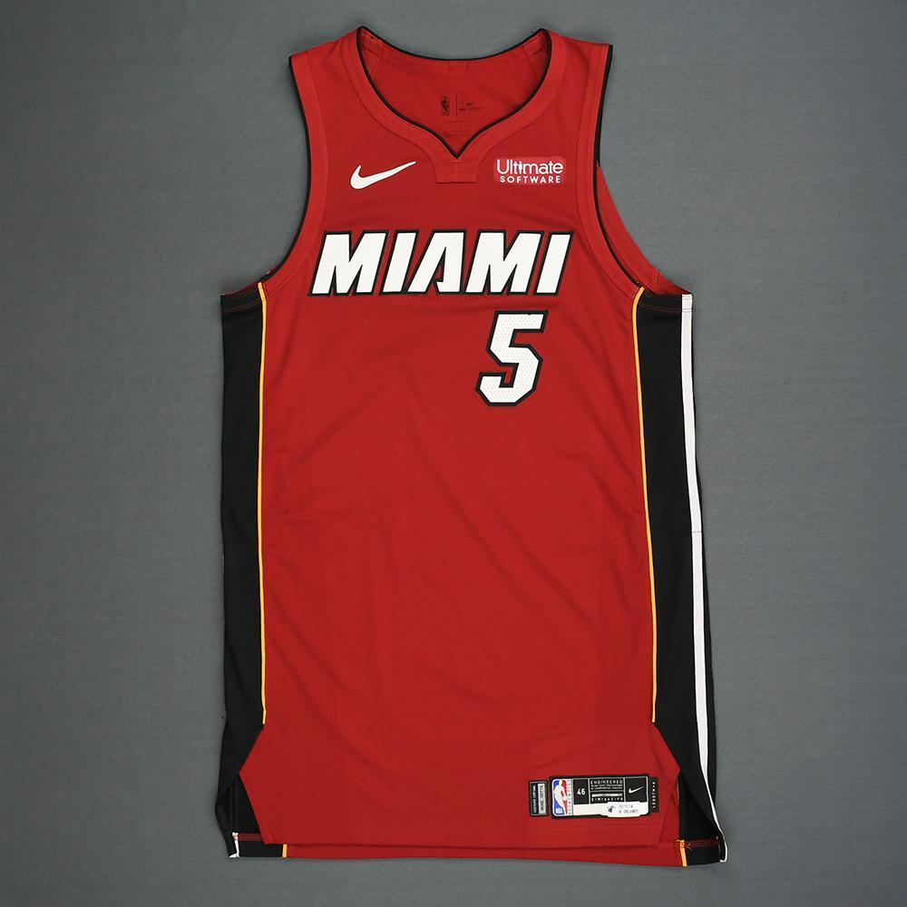 Derrick Jones Jr. - Miami Heat - Kia NBA Tip-Off 2018 - Game-Worn Statement Edition Jersey