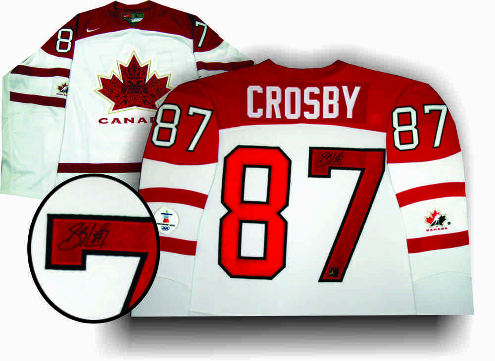Sidney Crosby -  Signed White Team Canada 2010 Olympic Jersey