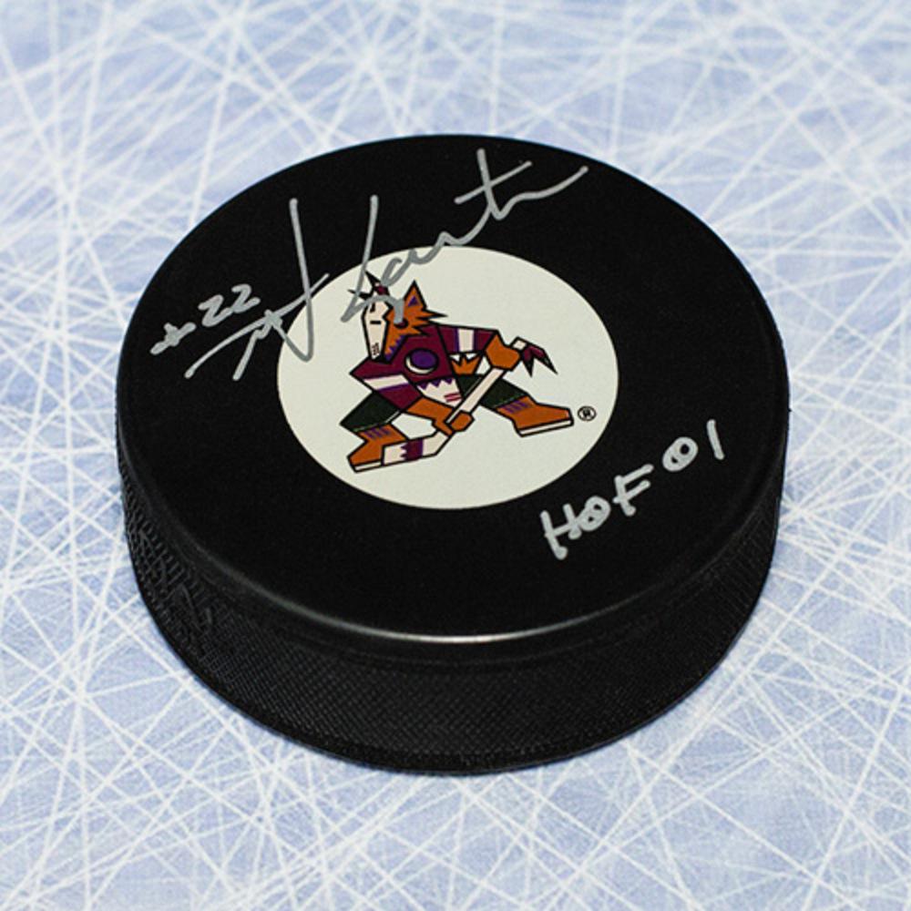 Mike Gartner Phoenix Coyotes Autographed Hockey Puck with HOF Inscription