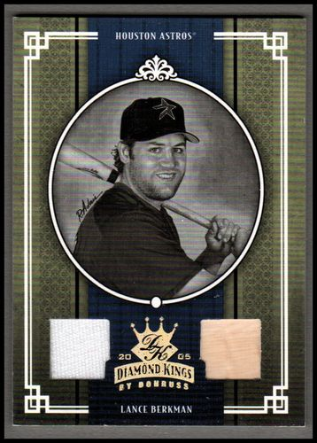 Photo of 2005 Diamond Kings Materials Gold B/W #103 Lance Berkman Bat-Jsy/50