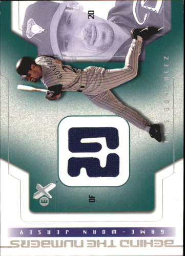 Photo of 2002 E-X Behind the Numbers Game Jersey #7 Luis Gonzalez