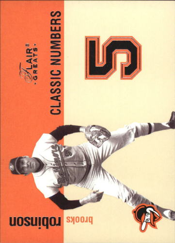 Photo of 2003 Flair Greats Classic Numbers #3 Brooks Robinson