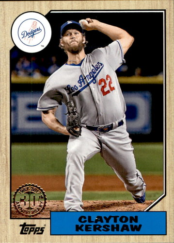 Photo of 2017 Topps '87 Topps #8739 Clayton Kershaw