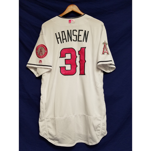 Photo of Dave Hansen Game-Used Home Mother's Day Jersey