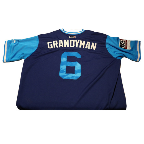 "Photo of Curtis ""Grandyman"" Granderson Los Angeles Dodgers Game-Used Players Weekend Jersey"